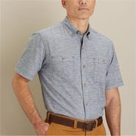 Men's Hemp F.O.M Short Sleeve Shirt DEEMOSS MED RE