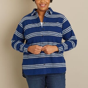Women's Plus Heritage-Weight Flannel Long Shirt