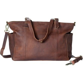 ec5515a684a7 Lifetime Leather Large Tote BROWN Lifetime Leather Large Tote BROWN ...