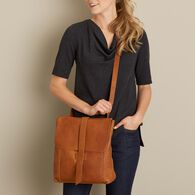 Women's Lifetime Leather Messenger Bag COGNAC
