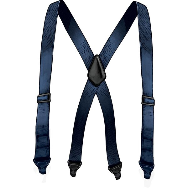 Men's Travel X-Back Metal Free Suspenders NAVY