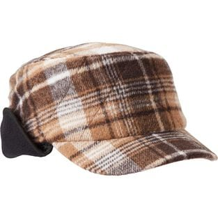 Women's Quilted Trapper Plaid Cap CMLPLAD XLG