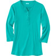 Women's Longtail T 3/4 Sleeve Henley T-Shirt TIDPO