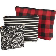 Women's Canvas 3-Pack Printed Pouches BUFCMLT
