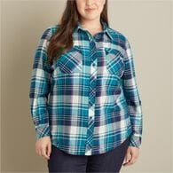 Women's Plus Crosscut Wicking Flannel Shirt MNTMCH