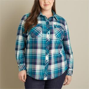 Women's Plus Crosscut Wicking Flannel Shirt