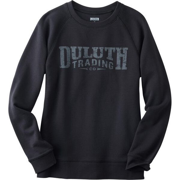 Women's Duluth Trading Crew Neck Sweatshirt BLACK