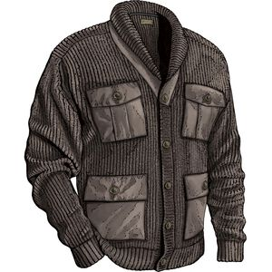 Men's Cotton Wool Military Sweater Jacket