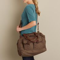 Oil Cloth Weekender Bag DRKBRWN
