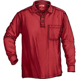 Men's No Polo Long Sleeve Shirt with Pocket