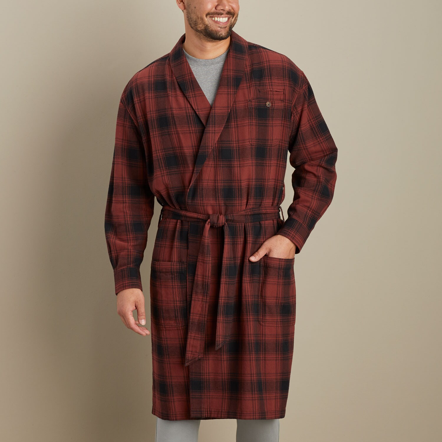 Men\'s Souped-Up Sweats SS Hooded Robe | Duluth Trading Company